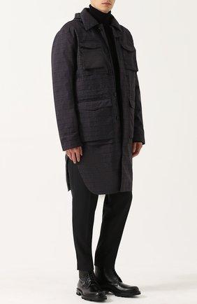 Высокие кожаные ботинки на шнуровке Jil Sander черные | Фото №1