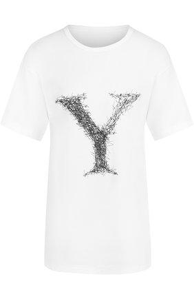 Хлопковая футболка с принтом | Фото №1