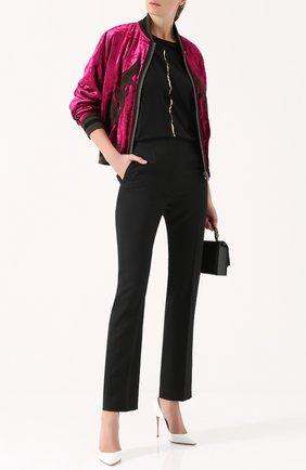 Шерстяные брюки с широким декорированным поясом Haider Ackermann черные | Фото №1