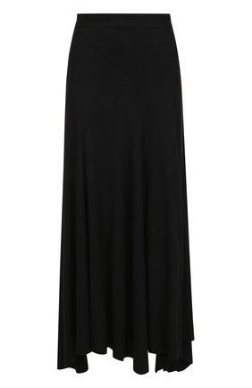 Однотонная шерстяная юбка-макси | Фото №1