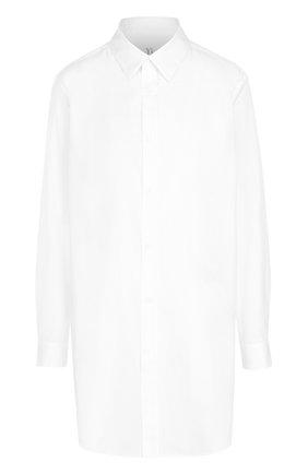 Удлиненная хлопковая блуза свободного кроя | Фото №1