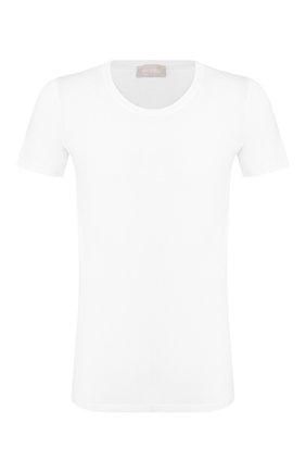 Мужская хлопковая футболка HANRO белого цвета, арт. 073088 | Фото 1 (Длина (для топов): Стандартные; Материал внешний: Хлопок; Рукава: Короткие; Мужское Кросс-КТ: Футболка-белье; Кросс-КТ: домашняя одежда; Статус проверки: Проверена категория)
