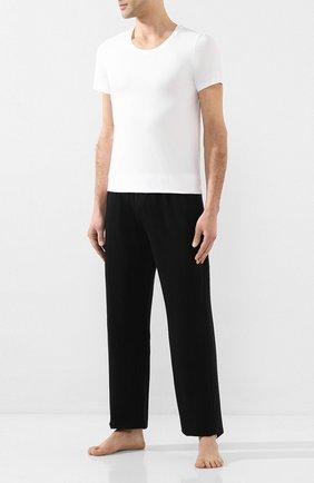 Мужская хлопковая футболка HANRO белого цвета, арт. 073088 | Фото 2 (Длина (для топов): Стандартные; Материал внешний: Хлопок; Рукава: Короткие; Мужское Кросс-КТ: Футболка-белье; Кросс-КТ: домашняя одежда; Статус проверки: Проверена категория)