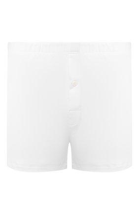 Мужские хлопковые боксеры со скрытой резинкой HANRO белого цвета, арт. 073172 | Фото 1