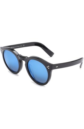 Женские солнцезащитные очки ILLESTEVA черного цвета, арт. LE0NARD II BLACK/BLUE   Фото 1 (Тип очков: С/з; Ограничения доставки: fragile)