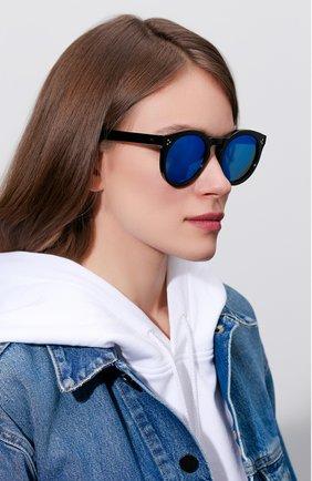 Женские солнцезащитные очки ILLESTEVA черного цвета, арт. LE0NARD II BLACK/BLUE   Фото 2 (Тип очков: С/з; Ограничения доставки: fragile)