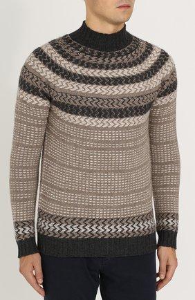 Шерстяной свитер с воротником-стойкой   Фото №3