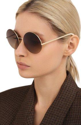 Женские солнцезащитные очки VICTORIA BECKHAM золотого цвета, арт. S95 C06 | Фото 2