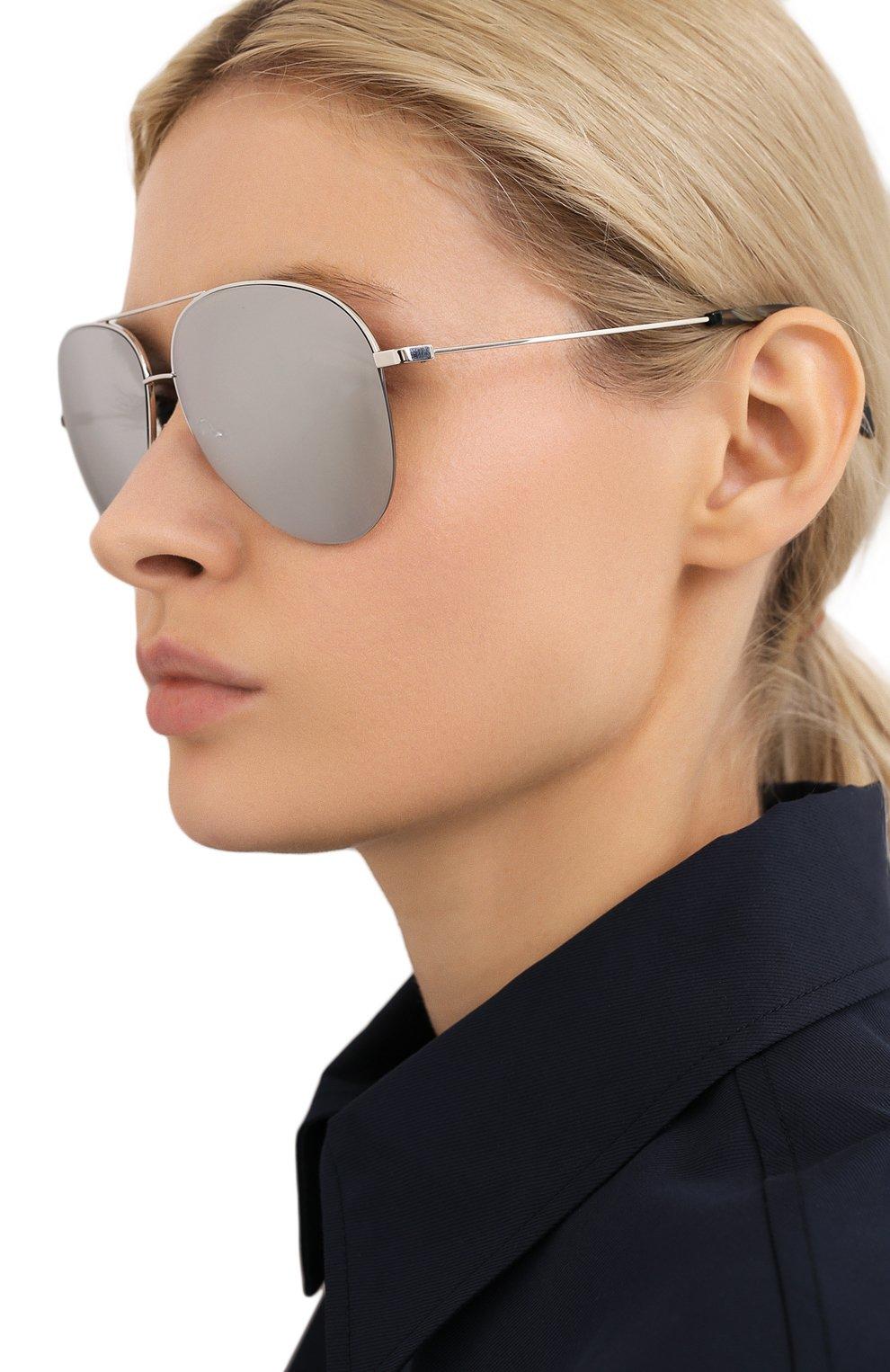 Женские солнцезащитные очки VICTORIA BECKHAM серебряного цвета, арт. S90 C07 | Фото 2