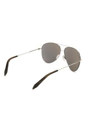 Женские солнцезащитные очки VICTORIA BECKHAM серебряного цвета, арт. S90 C07 | Фото 4