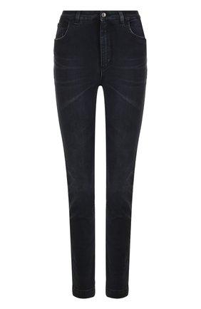 Джинсы-скинни с потертостями Dolce & Gabbana темно-синие | Фото №1