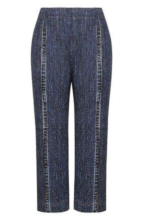 Укороченные брюки прямого кроя с карманами | Фото №1