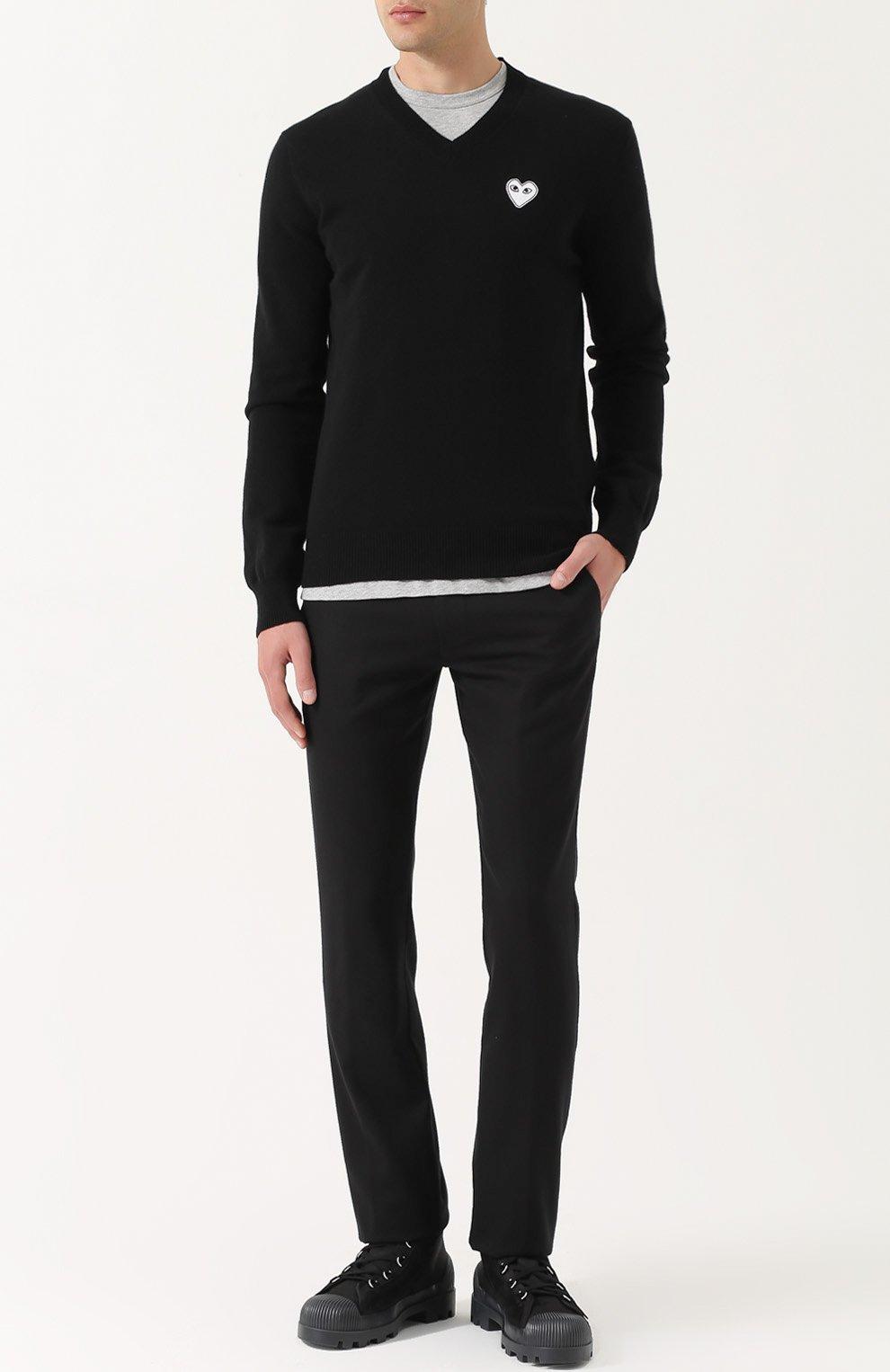 Пуловер из шерсти тонкой вязки | Фото №2