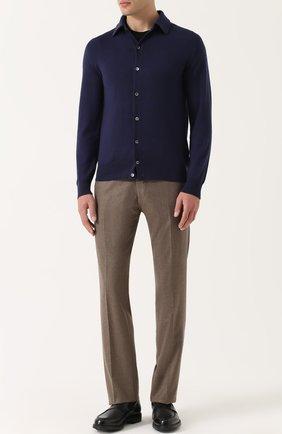 Мужской шерстяные брюки BERWICH бежевого цвета, арт. SC/1ALC/VB5991 | Фото 2