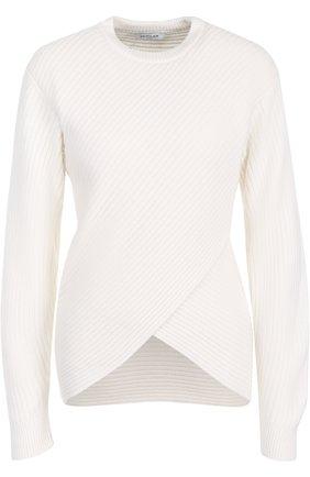 Пуловер фактурной вязки из смеси шерсти и кашемира | Фото №1