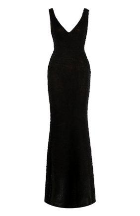 Вязаное платье-макси без рукавов | Фото №1