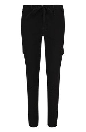 Хлопковые брюки карго с поясом на кулиске