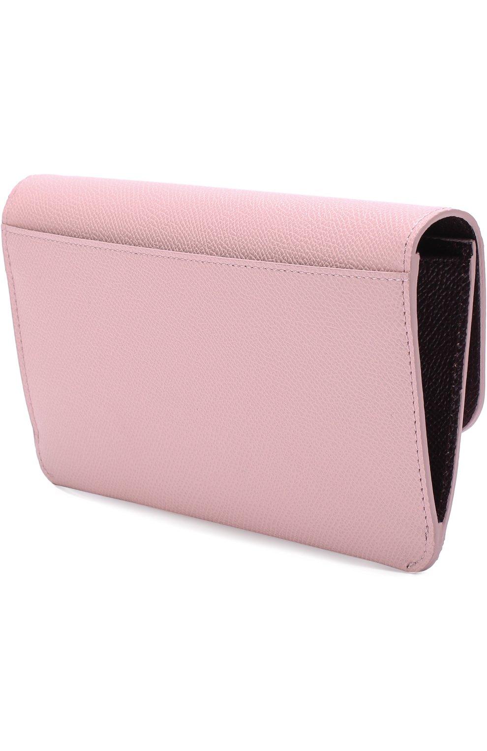 Набор из кожаного портмоне и футляров Dolce & Gabbana розового цвета | Фото №2