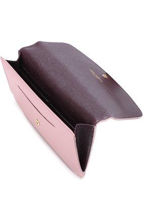 Набор из кожаного портмоне и футляров Dolce & Gabbana розового цвета | Фото №3