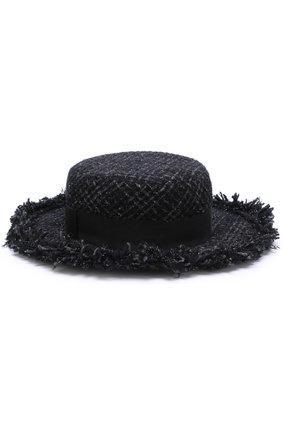 Буклированная шляпа Eugenia Kim черного цвета | Фото №1