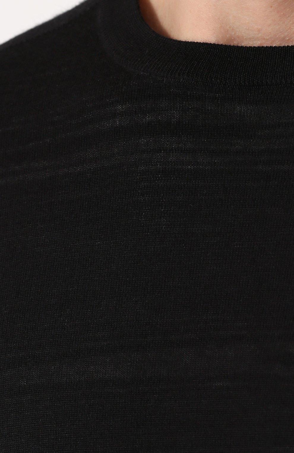 Джемпер из смеси хлопка и кашемира с шелком | Фото №5