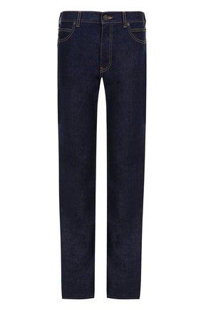 Расклешенные джинсы с контратсной прострочкой CALVIN KLEIN 205W39NYC синие | Фото №1