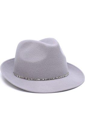 Шерстяная шляпа с отделкой стразами | Фото №1