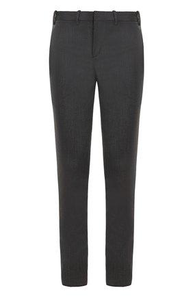 Шерстяные брюки прямого кроя с лампасами
