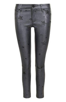 Кожаные брюки-скинни с принтом в виде звезд | Фото №1