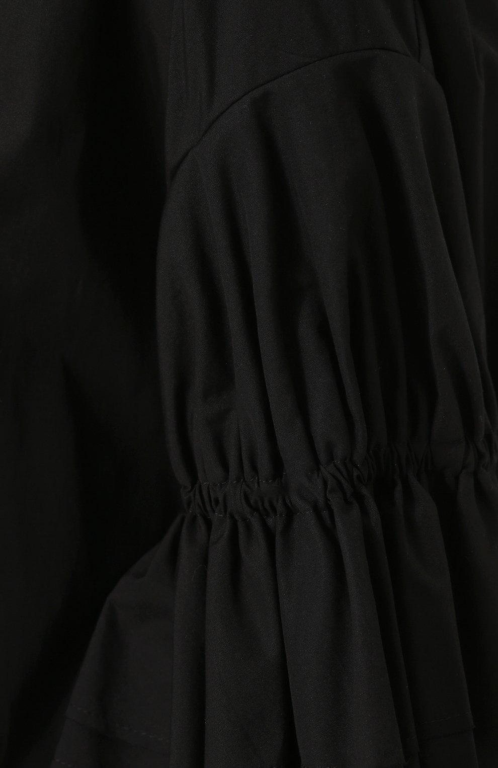 9a224c187b9 Хлопковое платье свободного коя с укороченным рукавом Yohji Yamamoto черное
