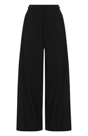 Шерстяные расклешенные брюки с карманами | Фото №1