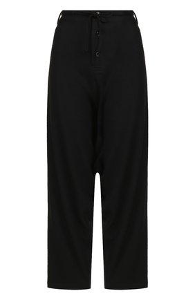 Шерстяные брюки с заниженной линией шага | Фото №1