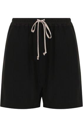 Однотонные шорты с эластичным поясом | Фото №1