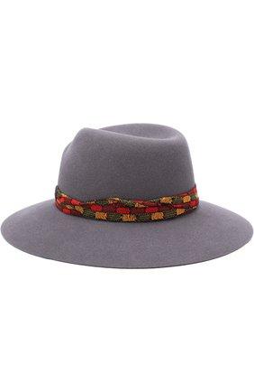 Женская фетровая шляпа virginie с тесьмой MAISON MICHEL серого цвета, арт. 1001054002/VIRGINIE | Фото 2