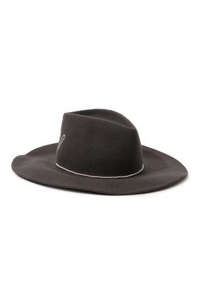 Шерстяная шляпа с отделкой жемчужинами | Фото №1