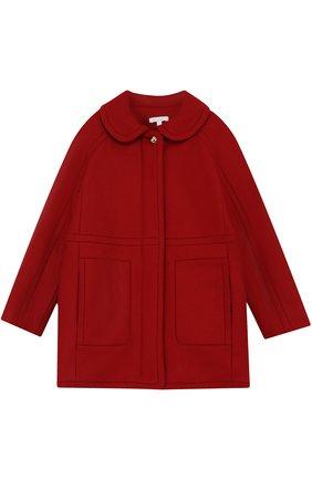 Шерстяное пальто прямого кроя | Фото №1
