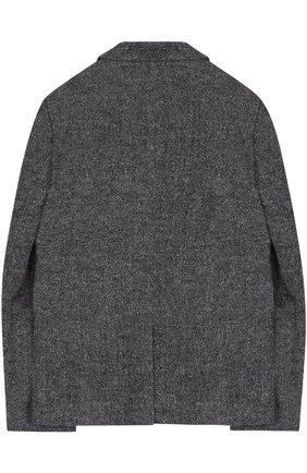Однобортный пиджак с вышивкой | Фото №2
