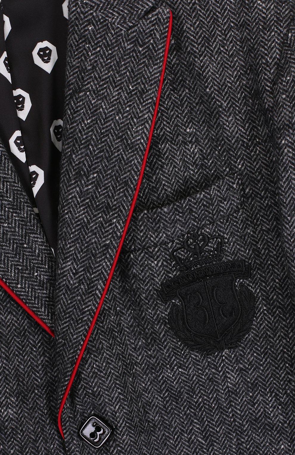 Однобортный пиджак с вышивкой | Фото №3