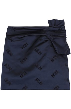 Мини-юбка из полиэстера с бантом | Фото №1