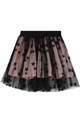 Мини-юбка свободного кроя с принтом в виде звезд | Фото №1