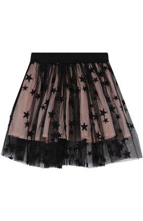 Мини-юбка свободного кроя с принтом в виде звезд | Фото №2