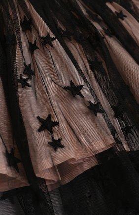 Мини-юбка свободного кроя с принтом в виде звезд | Фото №3