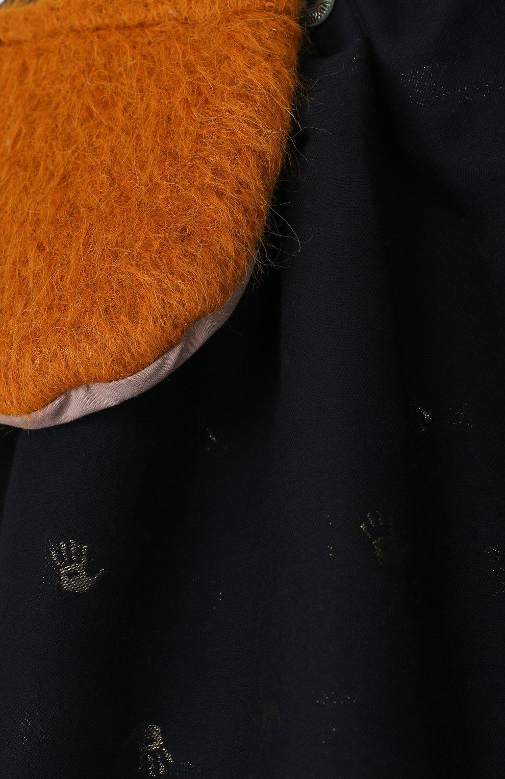 Юбка свободного кроя с принтом и декоративным карманом | Фото №3