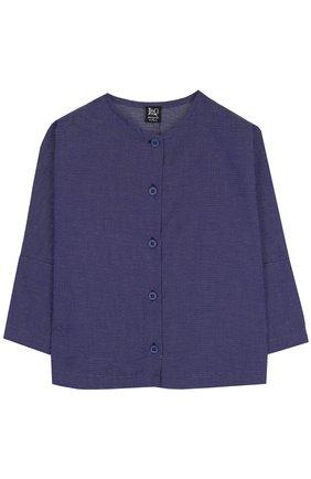 Хлопковая блуза прямого кроя | Фото №1