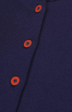 Кардиган джерси прямого кроя с контрастными пуговицами и манжетами | Фото №3