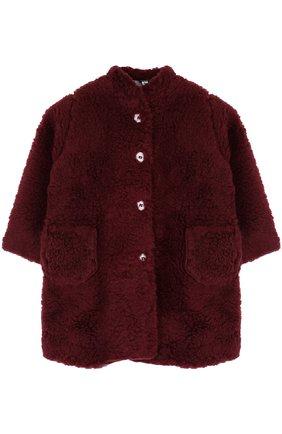 Пальто прямого кроя из шерсти и хопка | Фото №1