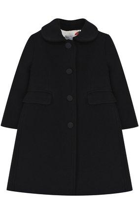 Однобортное приталенное пальто из шерсти и кашемира Dolce & Gabbana синего цвета | Фото №1