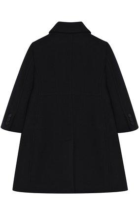 Однобортное приталенное пальто из шерсти и кашемира Dolce & Gabbana синего цвета | Фото №2