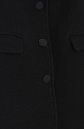 Однобортное приталенное пальто из шерсти и кашемира Dolce & Gabbana синего цвета | Фото №3