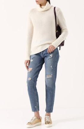 Однотонный кашемировый свитер Not Shy серый   Фото №1